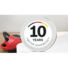 10 років гарантії на мотор в пилососах BOSCH