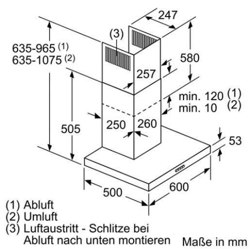 Вытяжка SIEMENS LC64BBC50